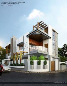 Modern House Designs In Punjab. 20 Modern House Designs In Punjab. Home Design Home Design In Punjab Bungalow Haus Design, Duplex House Design, House Front Design, Modern House Design, Home Design, Design Ideas, Smart Design, Building Elevation, House Elevation