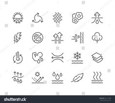 Buy Line Fabric Feature Icons by davooda on GraphicRiver. Simple Set of Fabric Feature Related Vector Line Icons. Contains such Icons as Waterproof, Layered Structure, Breatha. Graphic Design Tips, Logo Design, Web Design, Simple Icon, Web Banner Design, Best Icons, Cool Fabric, Line Icon, Design Thinking