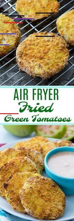 Air Fryer Fried Green Tomatoes Air Fryer Fried Green Tomatoes are so crispy and you need almost no oil. Air Fryer Fried Green Tomatoes fry up super crispy with very little oil. You'll love this healthy way to eat fried green tomatoes! Air Fryer Recipes Wings, Air Fryer Recipes Appetizers, Air Fryer Recipes Low Carb, Avocado Toast, Blooming Onion Recipes, Air Fryer Deals, Natural Fat Burners, Avocado Salat, Fried Green Tomatoes