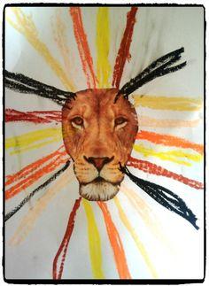 afrique, savane, lion, crinière du lion, craie grasse, enfant