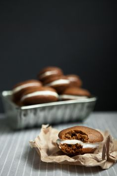 pumpkin whoopie pies with maple butter cream