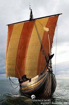 A Viking warship replica, Havhingsten af Glendalough (the Sea Stallion of Glendalough)