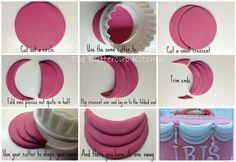 fondant decorations, cake tutorial, fondant swag, ruffl, ribbon, cake decorations, fondant toppers, fondant tutorial, curtain