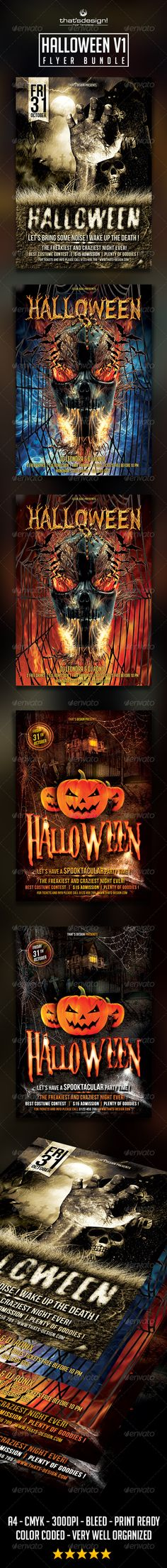 Halloween Flyer Bundle Template PSD   Buy and Download: http://graphicriver.net/item/halloween-flyer-bundle-v1/8772016?WT.ac=category_thumb&WT.z_author=lou606&ref=ksioks