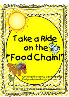 """First Grade Wow: Riding the Food Chain! - adorable mini book about the food chain that follows """"there was an old lady... """" style books. {freebie}"""