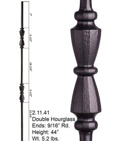 Double Hourglass Ends: Rd. Pairs with: All Rd. Balusters Shoes: The Tuscan round series iron baluster features a two hourglasses. This baluster is solid wrought iron and is round on the ends. It uses the shoes for the nine sixteenth inch Iron Balusters, Hourglass, Oil Rubbed Bronze, Modern Classic, Cross Reference, Wrought Iron, Vintage, Pairs, Patterns