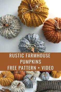 Crochet Fall, Holiday Crochet, Halloween Crochet, Crochet Home, Crochet Crafts, Yarn Crafts, Crochet Projects, Free Crochet, Knit Crochet