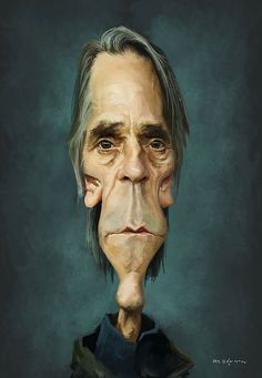 Jeremy Irons by Olle Magnusson (Caricature) Dunway Enterprises - www.learn-to-draw. Caricature Artist, Caricature Drawing, Funny Caricatures, Celebrity Caricatures, Cartoon Faces, Funny Faces, Sketch Manga, Portrait Cartoon, Jeremy Irons