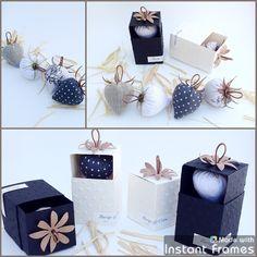 **commande Isabelle** 20 coffrets invités fraises : Accessoires de maison par barege-coton