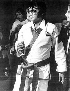 Elvis Presley...I had the opportunity to spend a week in Elvis' and Bill Wallace's karate school...He was there the week that I was....Unforgetable Experience.