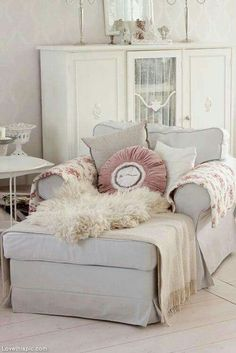 Big Comfy Chair with Footrest home white gray chair decorate comfort furniture footstool Sailors room & A Little Link Love | Furniture | Pinterest | Reading nooks Master ...
