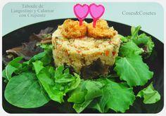 Taboulé de Langostino y Calamar con Crujiente. Receta Ligera   Coses & Cosetes