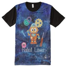 #Robot Lover Spare Parts Star Sky Print Tshirt - customized designs custom gift ideas