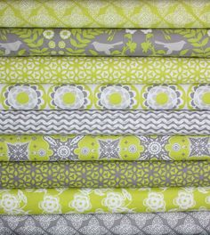 Ty Pennington Impressions Chartreuse Fabric by Free Spirit-Fat Quarter Bundle- 9 total. $27.00, via Etsy.