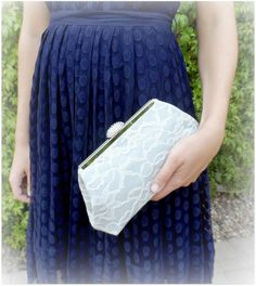 Personalize Your Bridesmaid Gift Ivory Lace Overlay by EllaWinston, $59.00