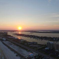 Sunset at Orange Beach, Alabama.,  #alabama #orangebeach #orangebeachcondo #sunset