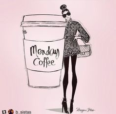 Weekend Quotes : Monday coffee by Megan Hess Illustration - Quotes Sayings I Love Coffee, Coffee Art, My Coffee, Coffee Menu, Cup Of Coffee Drawing, Coffee Shop, Happy Coffee, Coffee Barista, Coffee Club