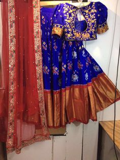 Half Saree Designs, Saree Blouse Designs, Designer Blouse Patterns, Designer Dresses, Indian Attire, Indian Wear, Indian Dresses, Indian Outfits, India Fashion