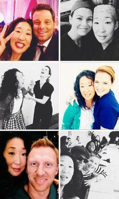 the cast and Sandra through season 10