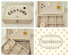 caixa de costura / handmade sewing box
