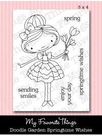 mft Doodle Garden Springtime Wishes