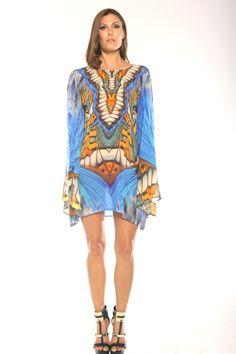 Parides Metamorphosis Style PP504C Blue Shift Dress www.shahidaparides.com