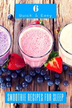 Sleep like a boss when you drink one of these six easy insomnia smoothie recipes before bed. via @https://www.pinterest.com/bmused2/
