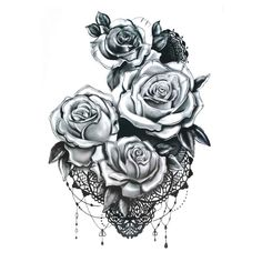 UneTattoo MX-1099 Temporary Tattoo Flower Tattoo 15*21 CM