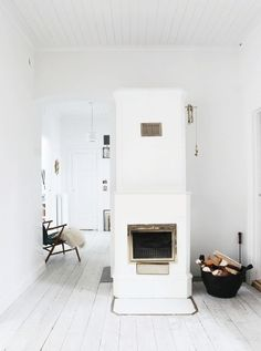 scandinavian fireplace