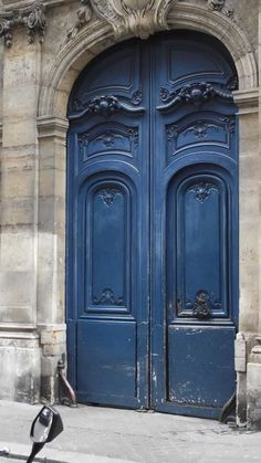 Blue Doors Paris -- like these doors too!  See my blogpost to see more of my trip to France!