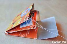 Kaksilokeroinen lompakko mehupurkista + kuvallinen ohje http://www.haaraamo.fi