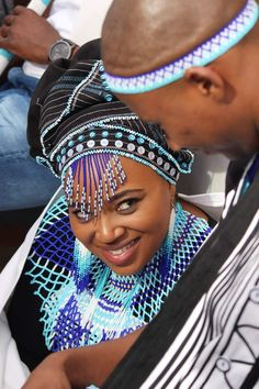 An Authentic Traditional Xhosa Wedding - South African Wedding Blog Wedding Dresses South Africa, African Wedding Attire, South African Weddings, African Attire, Short African Dresses, African Print Dresses, African Prints, African Fabric, Short Dresses