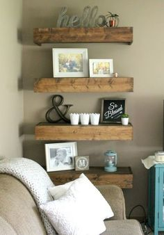9 Happy Cool Tricks: Small Living Room Remodel With Fireplace living room remodel rustic stone fireplaces.Small Living Room Remodel Interiors living room remodel on a budget projects.Living Room Remodel On A Budget Crown Moldings. Decor, Room Remodeling, Farm House Living Room, Living Room Diy, Living Room Decor Rustic, Living Room Remodel, Living Decor, Room Decor, Diy Wood Shelves