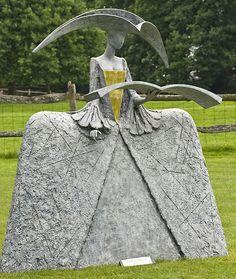 Chanting Cimarosa - by Philip Jackson, sculptor: Sculpture Metal, Pottery Sculpture, Jackson's Art, Sculptures Céramiques, Ceramic Figures, Weird Art, Deco Design, Land Art, Public Art
