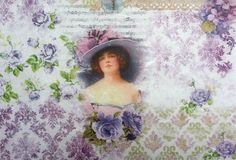 Rice Paper for Decoupage  Decopatch Scrapbooking Sheet Craft Vintage Beauty Lady