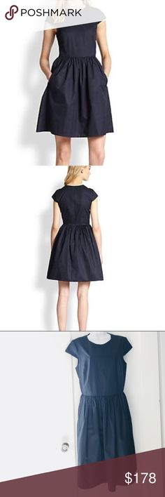 Theory Reska Cotton Dress Basic staple in your wardrobe, the Theory Reska Cotton Dress will come in handy throughout the year. Wear the Theory Reska Cotton Dress at the weekend with your favourite shoes. Cap sleeves. Measures 18 1/2 inches armpit to armpit and 39 inches shoulder to hem. Theory Dresses