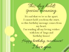 #LongDistance #birthday ecard for your #sweetheart. www.123greetings.com/profile/bebestarr