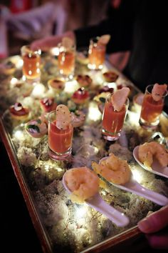 Beautifully presented #canapés #GallopingGourmet