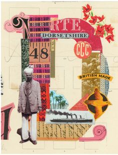 Creative Collage, Prettyclever, Martin, Neill, and Letterology image ideas & inspiration on Designspiration Collage Book, Collage Artists, Mixed Media Collage, Poster Collage, Word Collage, Collages, Photomontage, Illustrations, Illustration Art