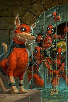 #Deadpool #Fan #Art. (Deadpool Corps 3 Cover) By Capprotti. (THE * 5 * STÅR * ÅWARD * OF: * AW YEAH, IT'S MAJOR ÅWESOMENESS!!!™)[THANK U 4 PINNING!!!<·><]<©>ÅÅÅ+(OB4E)