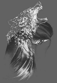 Viking Raven Art Wolf helped tattoo You'll be able to work while using pencil drawing technique being a single color. Wolf Spirit, Spirit Animal, Raven Art, Ouvrages D'art, Amazing Art, Urban Art, Fantasy Art, Cool Art, Art Drawings