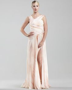Looking for a different kind of wedding gown, but still want style? Try this J. Mendel in the color blush to bring new meaning to a blushing bride. $1046. (Reg$5980)
