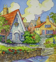 Storybook Cottage Series The Gardener's Village | Flickr - Alida Akers