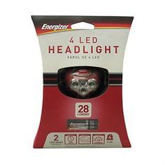 Energizer has numerous lighting products for the outdoor enthusiast. Energizer lighting products are rugged and strong while staying lightweight and comfortable to use. Wherever you go, Energizer lighting products are ready to go with you. Features: - Pivots to aim light where needed - 2 light modes – flood, red for night vision - Push button switch - Soft elastic adjustable headband - Water resistant - 21 hours of runtime on maximum setting using 3AAA Energizer MAX batteries