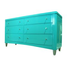Superb #Aqua #Lacquered Cabinet / #Dresser by Sabina Danenberg, via Flickr