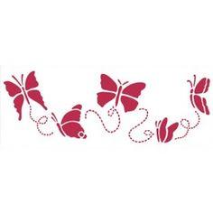 stencil farfalle svolazzanti