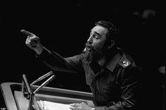 Castro (pictured here at the UN General Assembly in 1970) was famous for his lengthy speec...