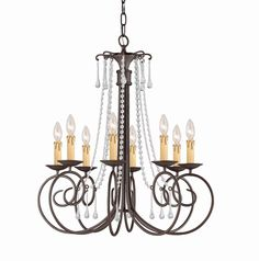 South Shore Decorating: Crystorama 5208-DR-CL SOHO Chandelier CTR-5208-DR-CL