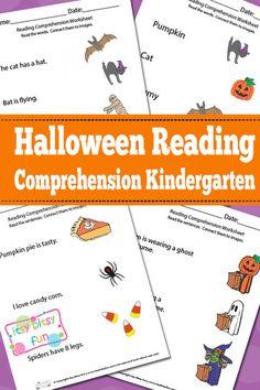 Halloween Reading Comprehension Worksheets for Kindergarten
