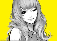 Portraits by takenaka (dahlia) – Pin Up and Cartoon Girls Art Beauty Illustration, Character Illustration, Internet Art, Photoshop, Female Character Design, Character Art, Portraits, Digital Art Girl, Fun Comics